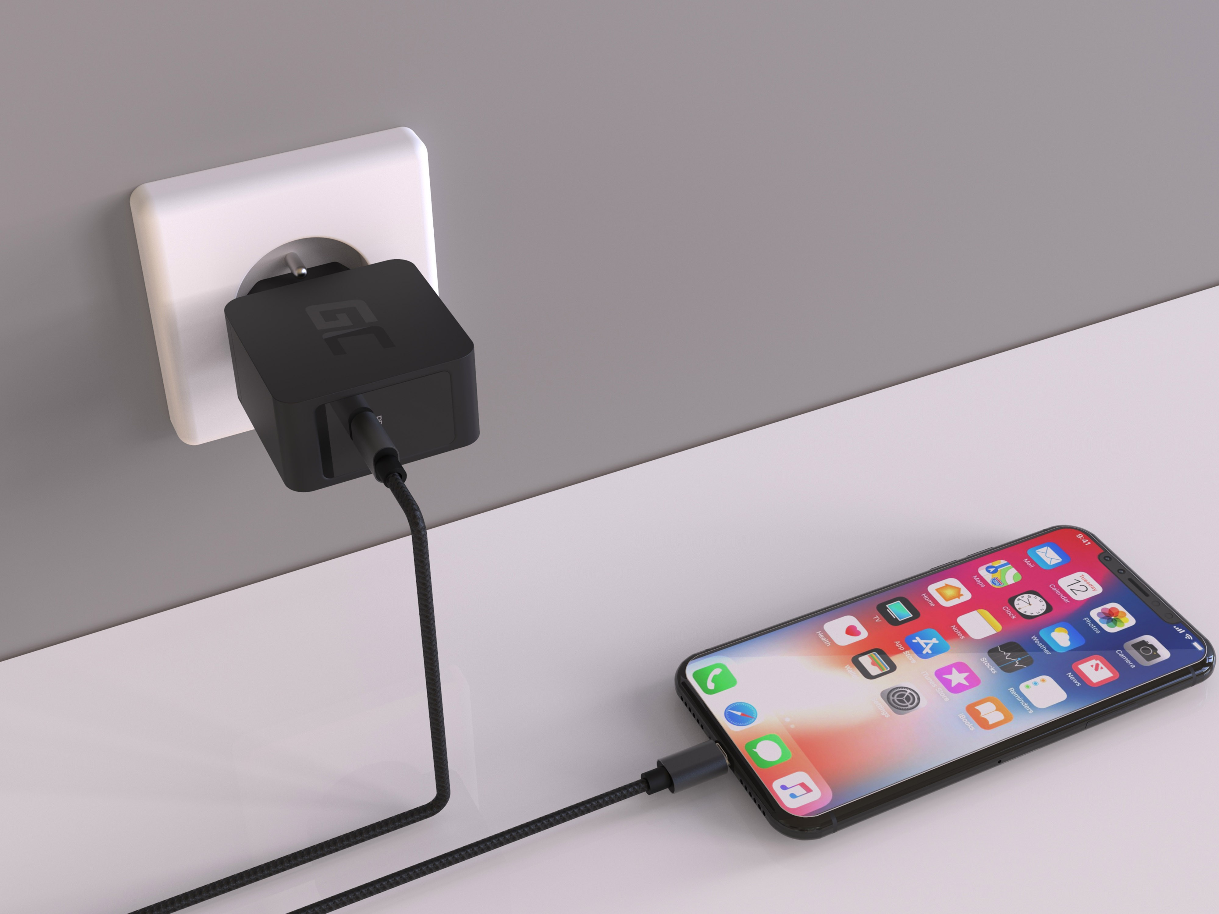 USB charger-C 18W PD for Samsung Galaxy S8 S8+ S9 S9+ Note iPhone 8, X / 8  / 8 Plus, Nintendo Switch and others